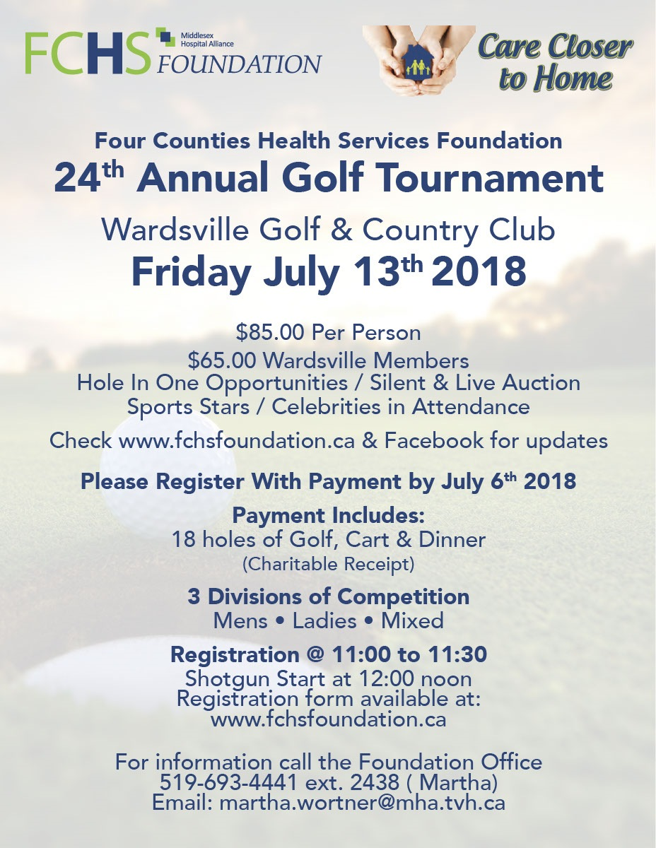 Past Golf Tournaments From The Four Counties Health Services Foundation